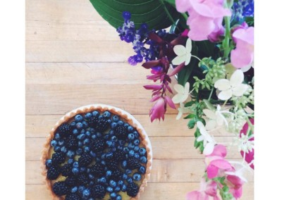 Blueberry:blackberry lemon tart