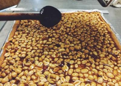 Salty caramel peanut bars